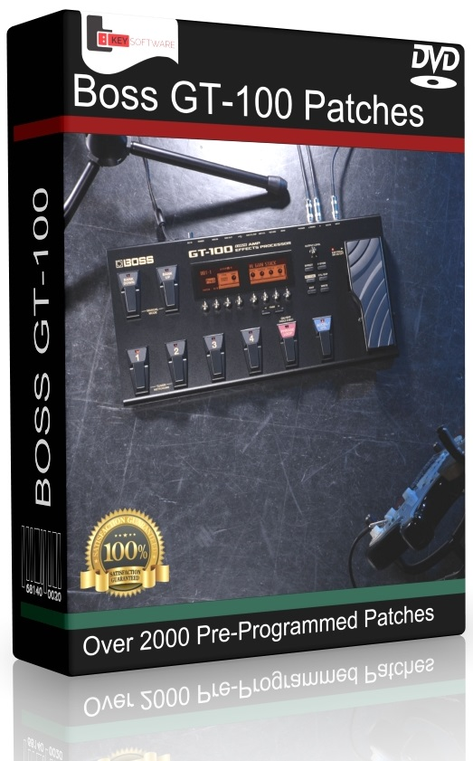 roland boss gt 100 patches dvd over 2000 pre programmed effects guitar pedals 714131636747 ebay. Black Bedroom Furniture Sets. Home Design Ideas