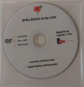WW1 British Army Lists 1914 - 1918 33 Volumes on PDF Medals Coat Jacket